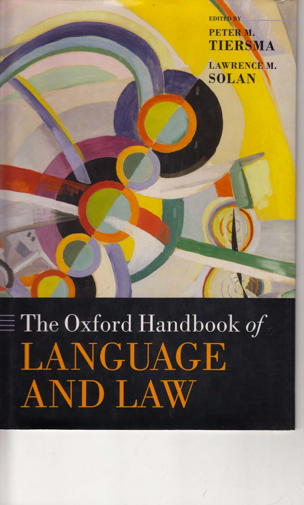 [The Oxford Handbook of Language & Law]